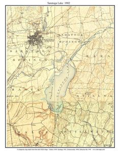 This Old Topographic Map Of Saratoga Lake Produced By The Usgs In 1902 Shows Topography