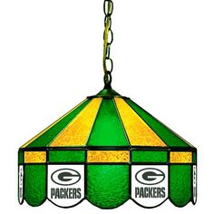 "Green Bay Packers 16"" Glass Lamp at http://www.SportsFansPlus.com ... I want that!"