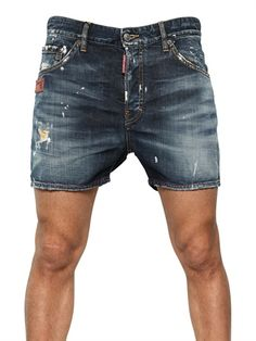 It's hot  as shit and sometimes men you gotta show some skin!!!! One day my thighs will allow this again.  DSQUARED OCRA RIP KENNY DENIM SHORTS