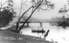 Narara Creek road bridge,West Gosford in 1908.