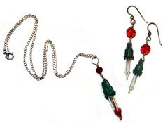 Upcycle old broken Christmas lights into jewelry