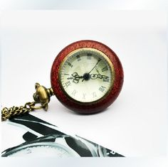 Crystal Ball  pocket watch necklaceV60 by XsisterJewelry on Etsy, $4.99