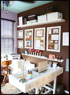 Gorgeous organized classy mom cave! Home office.