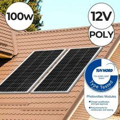 Szolár napelem panel 100W 12V polikristályos Solar Panels, The 100, Construction, Outdoor Decor, Design, Sun Panels, Building, Solar Power Panels