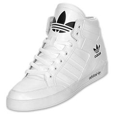 Men's adidas Originals Hardcourt Hi Casual Shoes | FinishLine.com |  White/Black