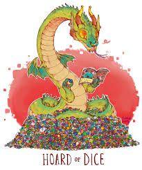 Unusual Dragon Hoards-Dice-by Lauren Dawson
