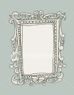Hand-Drawn Picture Frame Royalty Free Stock Vector Art Illustration
