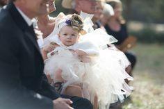Rustic wedding flower girl tutu dress