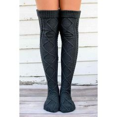 Our Over The Knee Knit Socks are the perfect cold weather accessories for the upcoming holiday season and all winter long! These beauties are not only warm, they make a statement! Made of high quality fabric these knit socks are super cozy and fashionable Cable Knit Socks, Knit Boots, Knitting Socks, Crochet Socks, Knit Stockings, Winter Socks, Cozy Winter, Thigh High Socks, Boot Socks