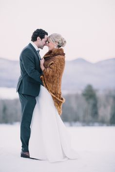 Photography : Julia Wade Photography Read More on SMP: http://www.stylemepretty.com/vermont-weddings/chittenden/2016/01/29/winter-mountain-top-inn-wedding/