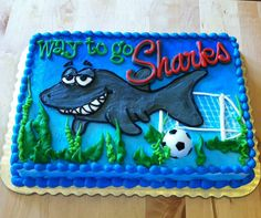 Shark Spirit!  Cake by Stephanie Dillon LS1 Hy-Vee
