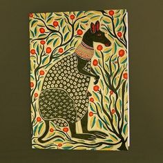 Indian Folk Art Greeting Card- A Kangaroo
