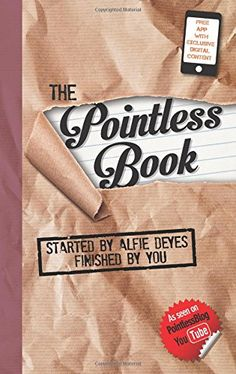 Booktopia has The Pointless Book, Started by Alfie Deyes, Finished by You by Alfie Deyes. Buy a discounted Paperback of The Pointless Book online from Australia's leading online bookstore. The Pointless Book, Pointless Blog, Good Books, Books To Read, My Books, Teen Books, Amazing Books, Amazing Things, Youtuber Books