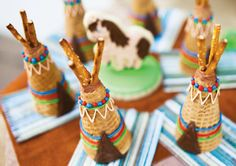 Indian Teepee Ice Cream Cones!