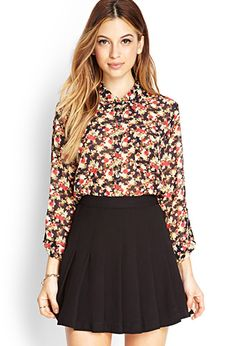 Nature-Inspired Floral Shirt | FOREVER21 - 2000069180