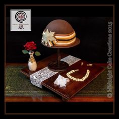 Downton Abbey Cake  - Lady Mary's Hat by Midnight Cake Creations