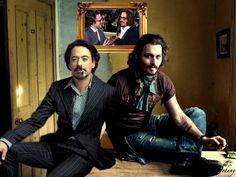 Robert Downey jr and Johnny Depp--STILL waiting for this magic moment when they do a movie together