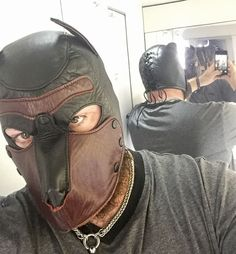 I pawed at his legs, I sniffed his butt and pits. Dog Mask, Latex Hood, Puppy Play, Leather Men, Leather Backpack, Hot Guys, Puppies, Mens Fashion, Dogs