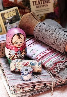 doll and linens - love