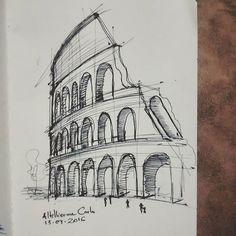 Gcse Art Sketchbook My Surroundings Ideas Architecture Drawing Sketchbooks, Architecture Concept Drawings, Architecture Art, Cool Art Drawings, Pencil Art Drawings, Art Drawings Sketches, Art Du Croquis, City Sketch, Building Sketch