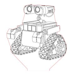 Wall-e 3d illusion lamp plan vector file for CNC - 3bee-studio