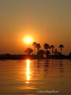 Sunset in the Okavango Delta in #Botswana