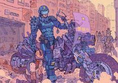 World's best Mom - Josan Gonzalez What Is Cyberpunk, Cyberpunk 2020, Cyberpunk Character, Cyberpunk Art, Writing Art, Shadowrun, Sci Fi Fantasy, Illustrations And Posters, Dieselpunk