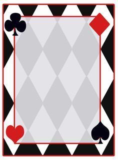 deck of cards photo booth picture frame template - Google Search