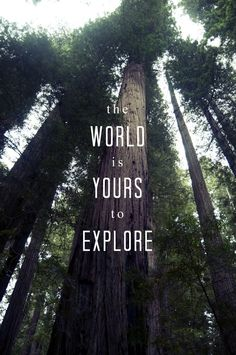 The world is yours to explore Nature quotes