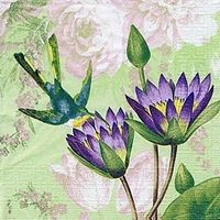0474 Servilleta decorada flores