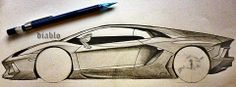tried to sketch Lamborghini Aventador  -Diablo  #sketch #pencil #drawing #Lamborghini