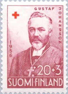 Postage stamp depicting the Finnish archbishop Gustaf Johansson France, Red Cross, Croissant, Ancient History, Postage Stamps, Poster, World, Postcards, Places
