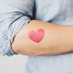 Heart sparkles temporary tattoo