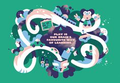 Motivational illustration poster for Children's Toy Foundation by Janine Rewell