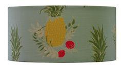 pineapple aqua pink linen lampshade