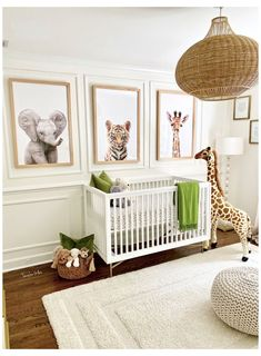 Baby Room Themes, Baby Boy Room Decor, Baby Room Design, Baby Room For Boys, Baby Room Green, Nursery Twins, Nursery Room, Safari Nursery, Animal Theme Nursery
