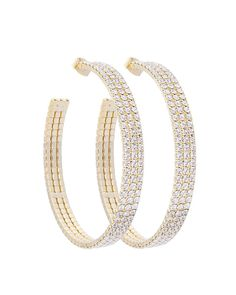 """1.5"""" DIAMETER HOOP EARRING - EE1046-GOLD"""