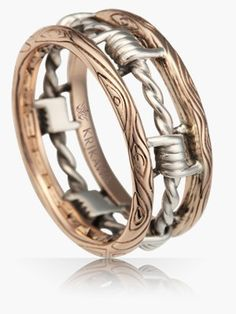 Men Wedding Rings cool rings for men - Outrageously cool and unique Men's wedding bands are handcrafted and made to order with the metals and gems that you choose by Krikawa. Unusual Wedding Rings, Big Wedding Rings, Celtic Wedding Rings, Titanium Wedding Rings, Diamond Wedding Rings, Bridal Rings, Wedding Bands, Wedding Hair, Cool Rings For Men