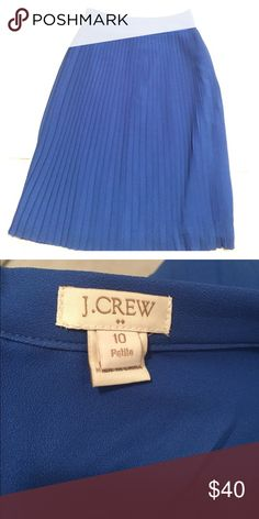 J. Crew factory pleated midi skirt cobalt blue Pleated mini skirt in 10 petite from j. Crew factory. New without tags, never worn. Pretty cobalt blue color, looks cute dressed up with a blouse and heels or casual with a t shirt. Accordion style. I bought via posh but really need next size up. J. Crew Factory Skirts Midi