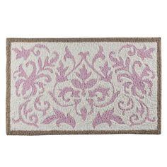 "Target Tiddliwinks Baroque Damask Rug - Pink (21x34"") $16.99"