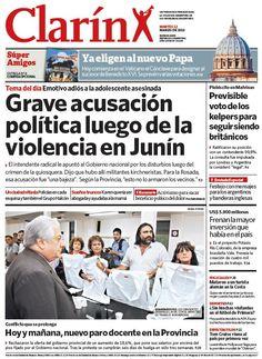 Política y seguridad: Señalan a militantes K por los graves incidentes en Junín. Más información: http://www.clarin.com/politica/Senalan-militantes-graves-incidentes-Junin_0_881311881.html