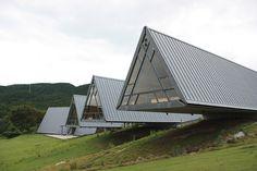 Fureai Centre designed by Shoei Yoh. Photos by Kenta Mabuchi.