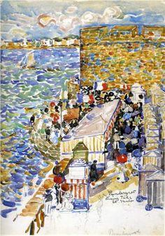 Rising Tide, St. Malo - Maurice Prendergast, c.1907