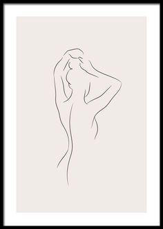 Simple Lines Affiche Body Outline, Outline Art, Outline Drawings, Art Abstrait Ligne, Minimal Art, Simple Line Drawings, Simple Line Tattoo, Line Art Tattoos, Minimalist Drawing