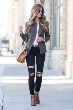 gorgeous Stylish And Trendy Blazer Work Outfits to Wear