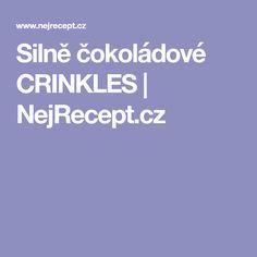 Silně čokoládové CRINKLES | NejRecept.cz