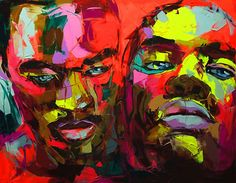 If we could have one artists' work hanging in large format on the Lost At E Minor office walls, it would have to be that of Parisian artist, Francoise Nielly. Featuring thick impasto palette knife strokes and trippy neon hues, Nielly captures the vulnerable expressions of her muses to a tee.