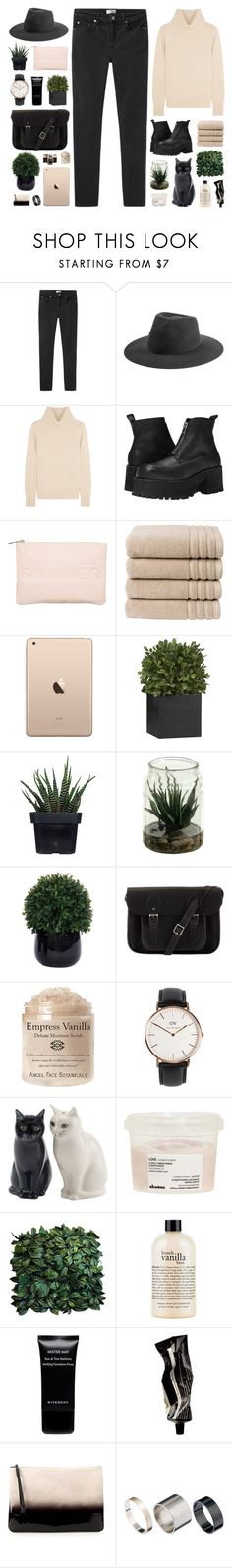 """""""wonderland"""" by karm-a ❤ liked on Polyvore featuring Acne Studios, rag & bone, N.Peal, UNIF, Miss Selfridge, Christy, Crate and Barrel, Alöe, Lux-Art Silks and The Cambridge Satchel Company"""