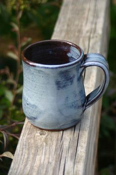 Pottery Mug with Handle Light Blue Glaze NC by Beaverspottery, $16.00