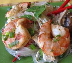 Shrimp in a Spicy, Ginger, Garlic  Marinade